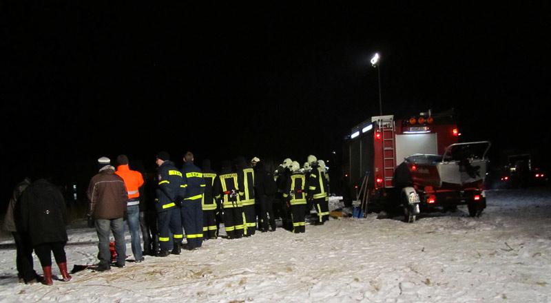 Bergungsübung der Freiwilligen Feuerwehr