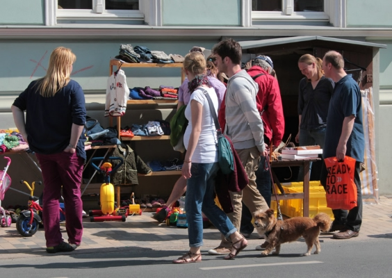 Bereits zum fünften Mal fand in der Greifswalder Fleischervorstadt ein Stadtteilflohmarkt statt.