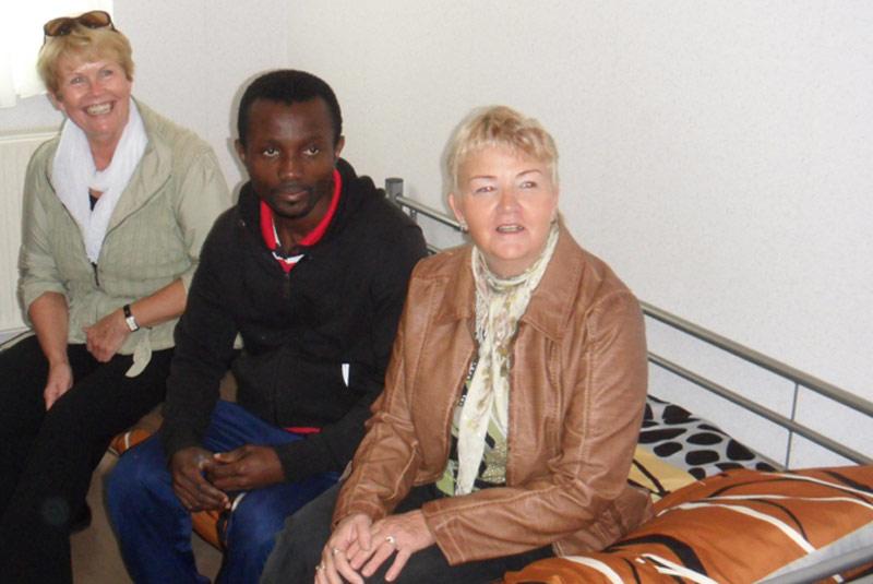 Zu Besuch im Flüchtlingsheim Wolgast