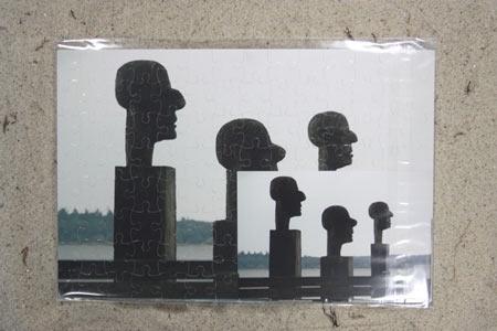 Holzskulpturpuzzle