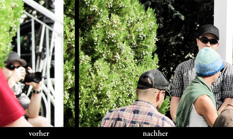 Der Naziaktivist Marcus G. nutzte die Gelegenheit, um die Nazigegnerinnen zu fotografieren