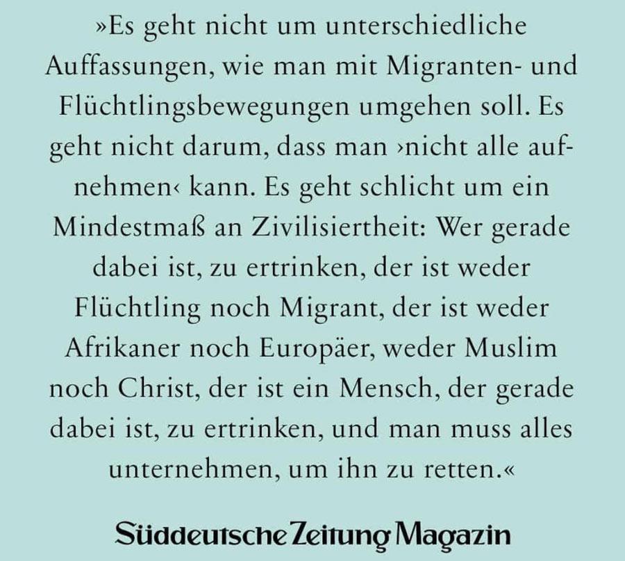 Meme der Süddeutschen Zeitung über Seenotrettung