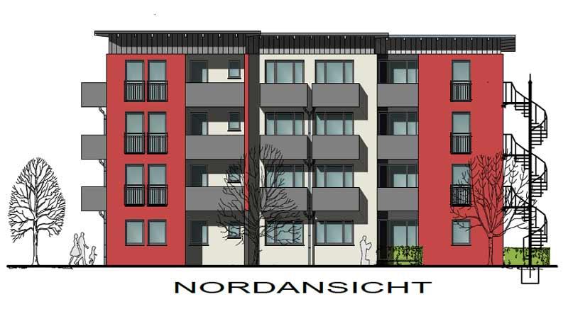 Der Wohnbau soll am 1. April fertiggestellt werden