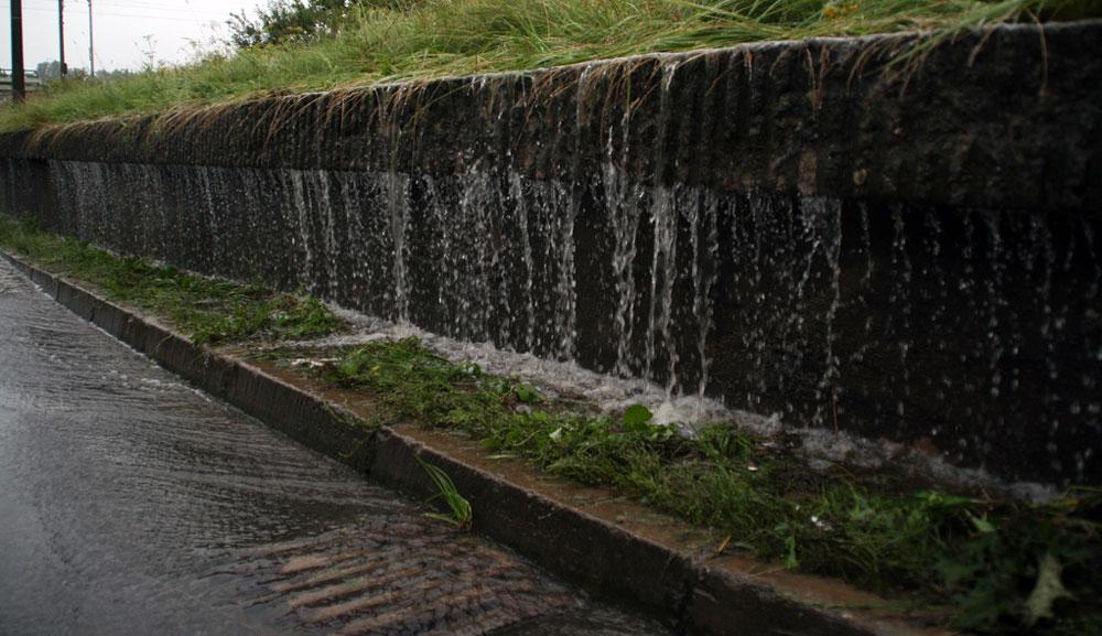 Das Wasser sammelt sich ...