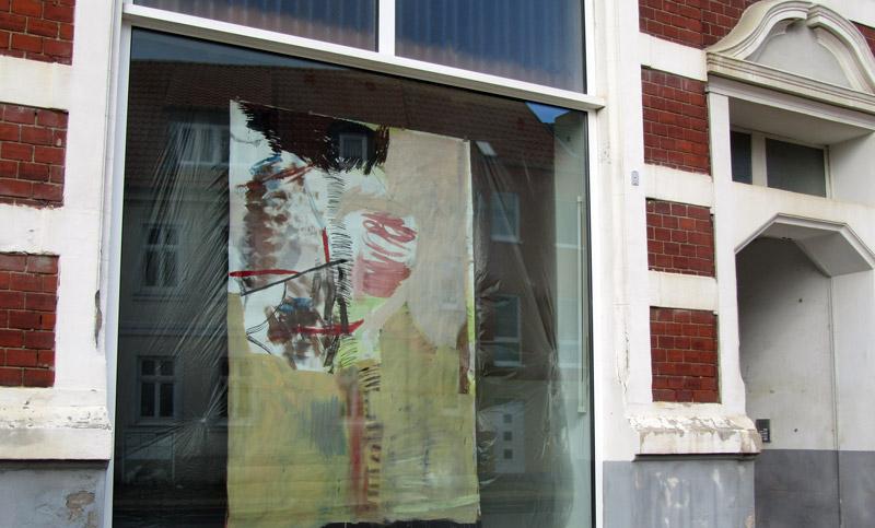 Das Bild von Lydia Wahrig hängt in der Gützkower Straße.