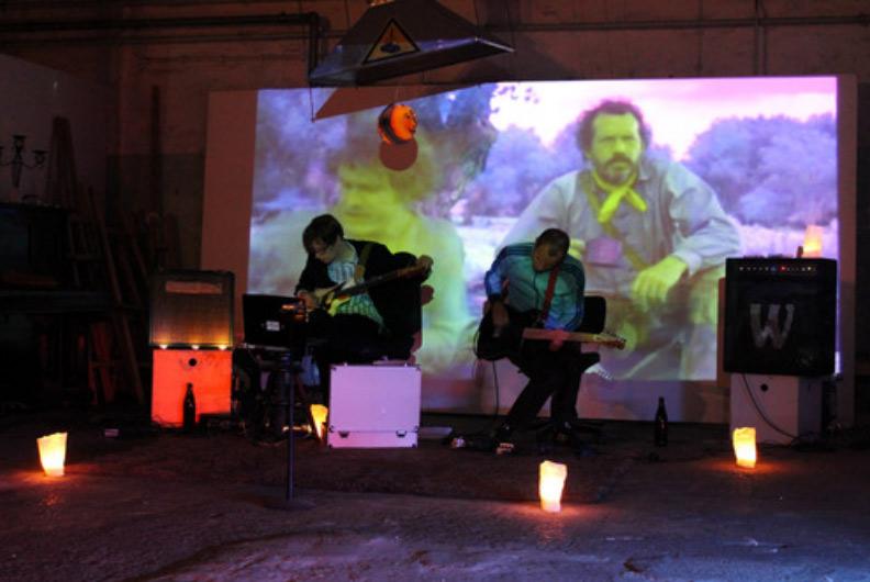 Huey Walker & Bassbees waberten mit einer Klangperformance ins Ende des Abends.