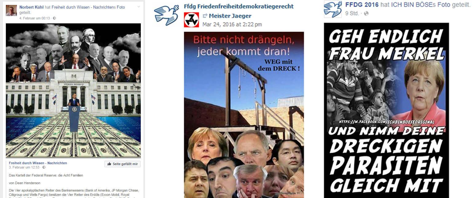 Rechtsextreme Hetze in sozialen Netzwerken von Norbert Kühl bzw. FFDG
