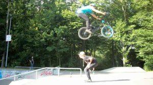 Festgehalten: BMX-Höhenflug in Greifswald