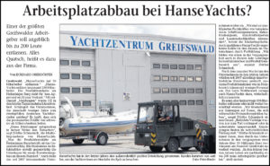 HanseYachts auf Schlingerkurs