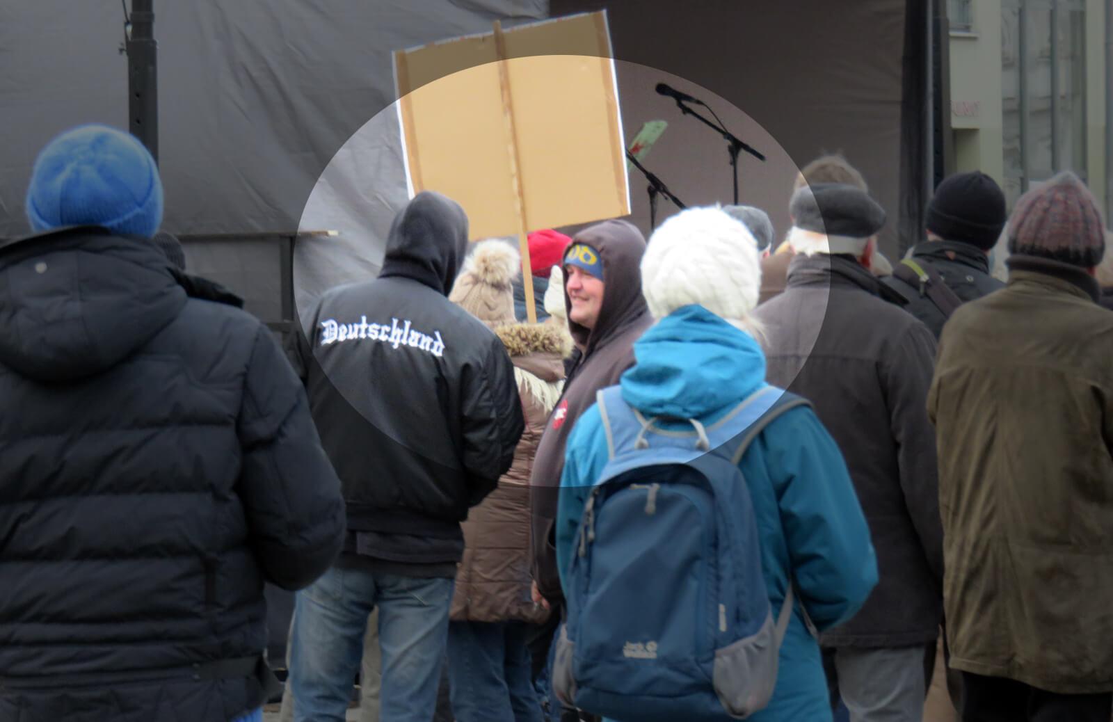 Neonazi Maik Spiegelmacher auf der Pro-Arndt-Demonstration in Greifswald